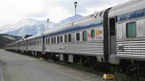 The Canadian in the Jasper's station, waiting for entering the Rocky Mountains.